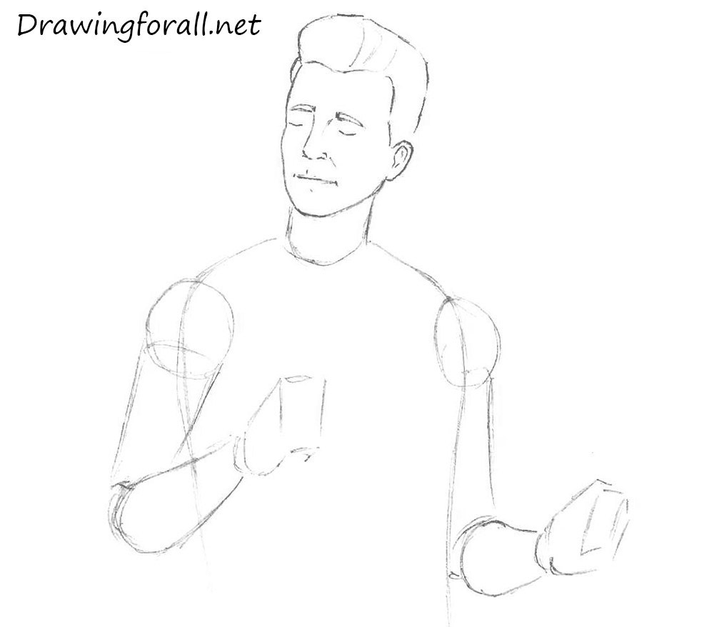 How to Draw Rick Astley with a pencil