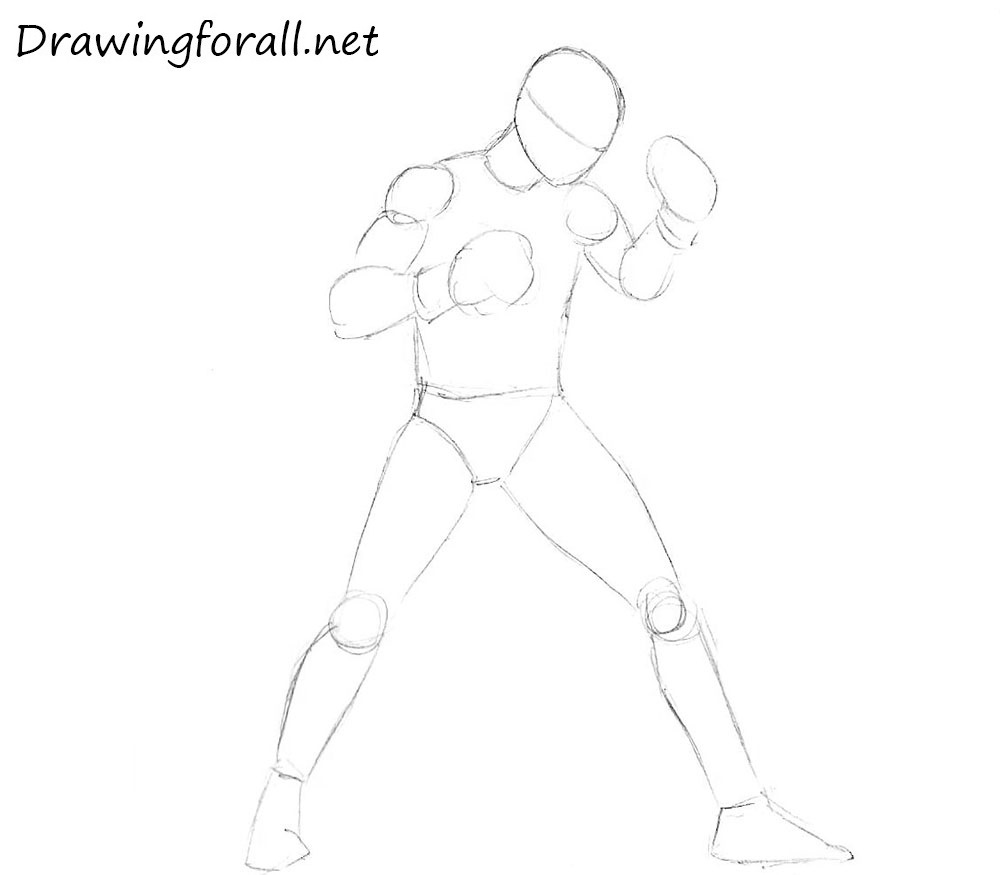 How to draw a boxer step by step