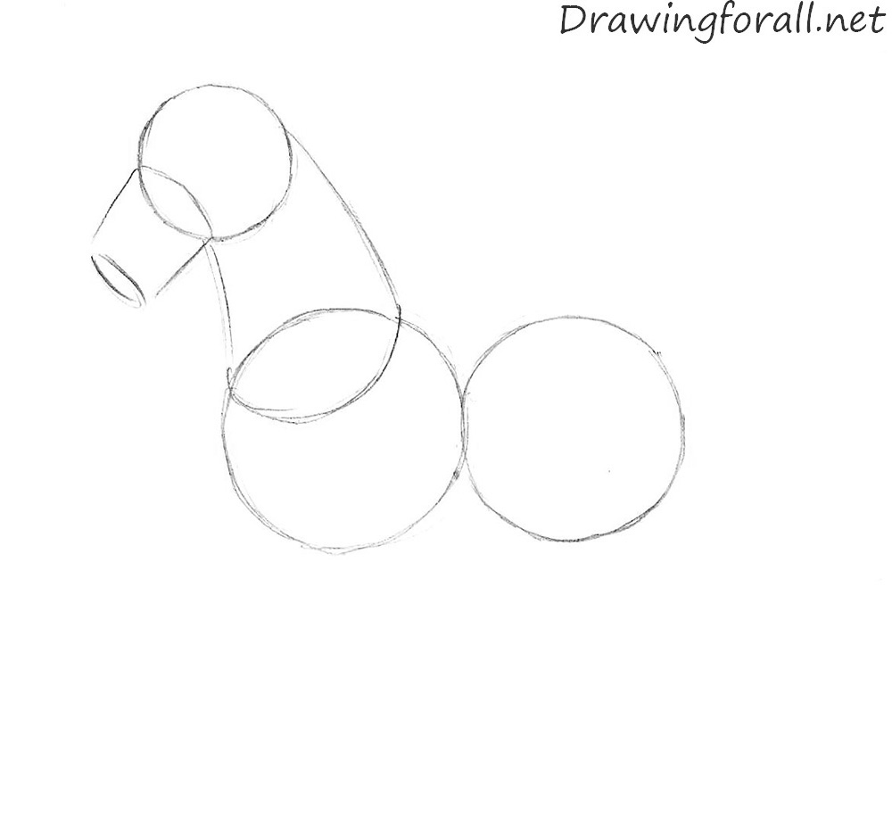 how to draw a cartoon horse with a pencil