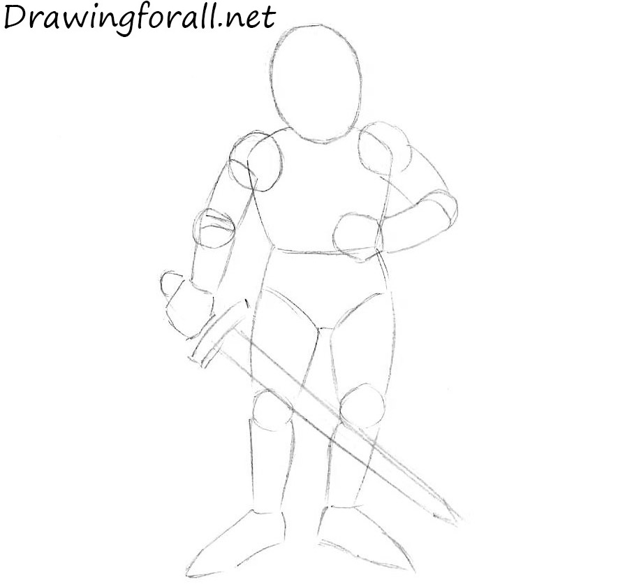 how to draw a knight for kids