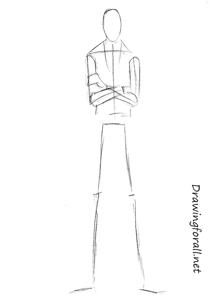 how to draw slenderman with a pencil