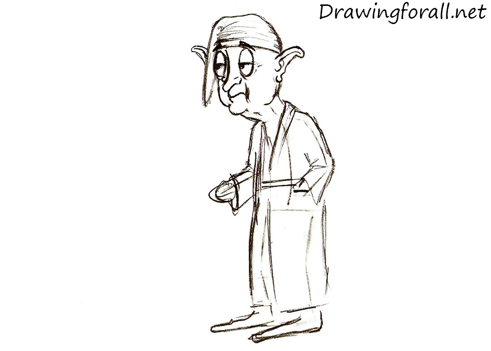 how to draw a hafling