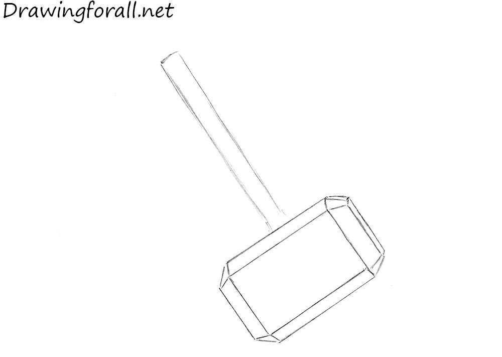 how to draw a hammer of thor