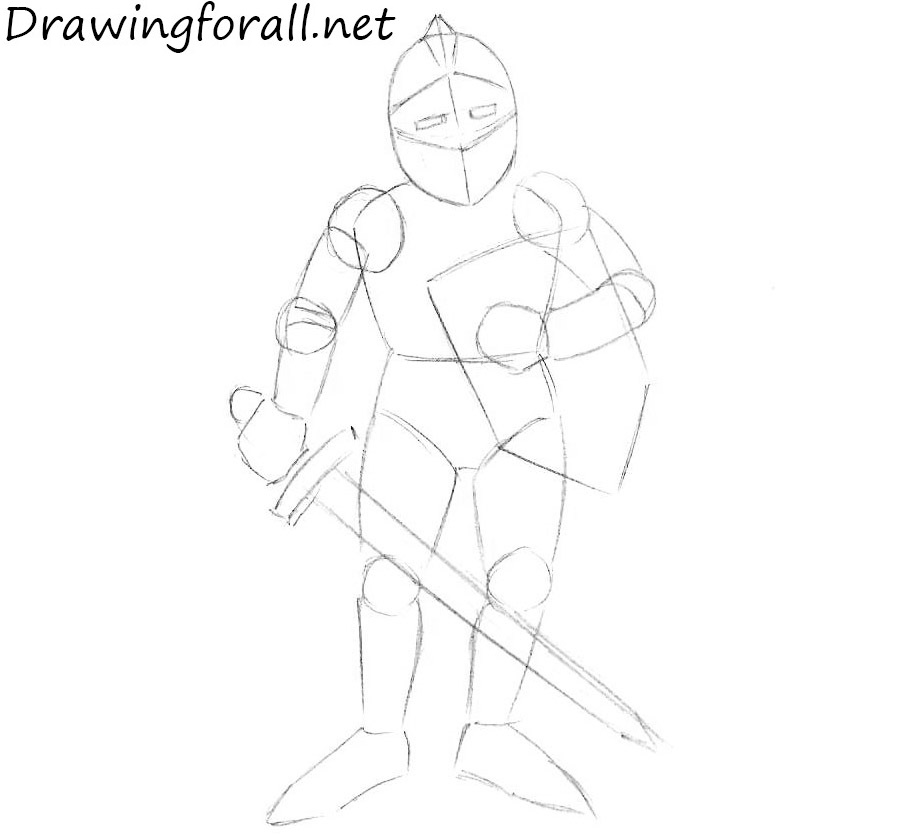 how to draw a knight for beginners