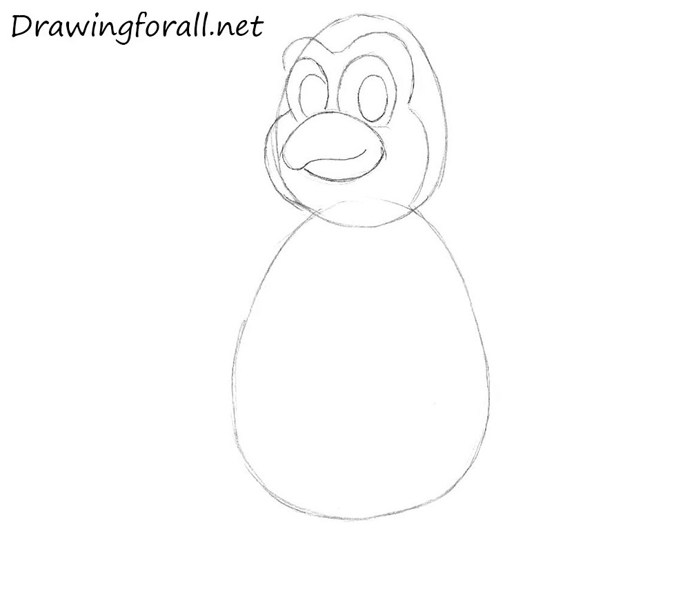 how to draw a penguin for beginners