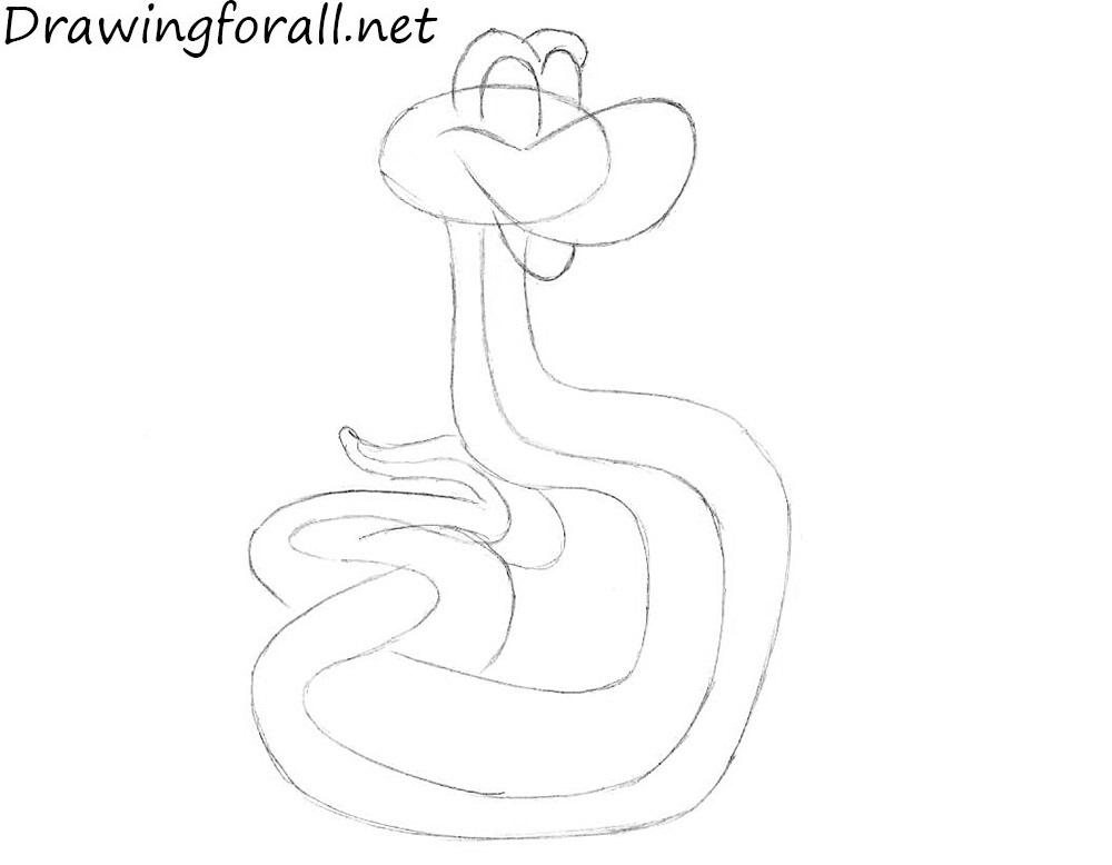 how to draw kaa