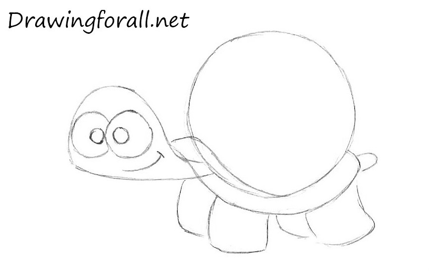 How to Draw a Cartoon Turtle with a pencil