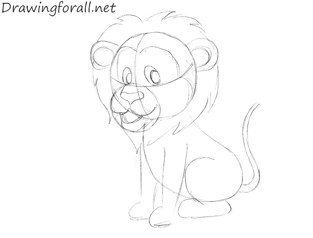 How to Draw a Lion for Kids step by step