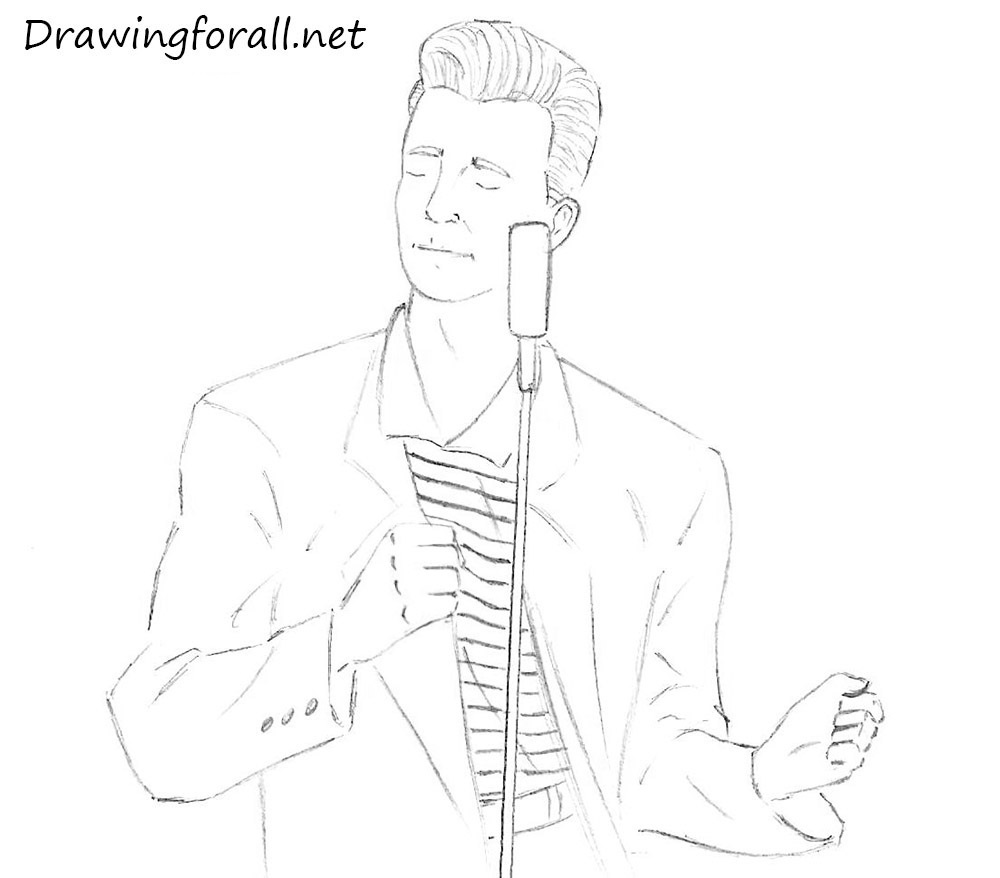 Rick Astley drawing