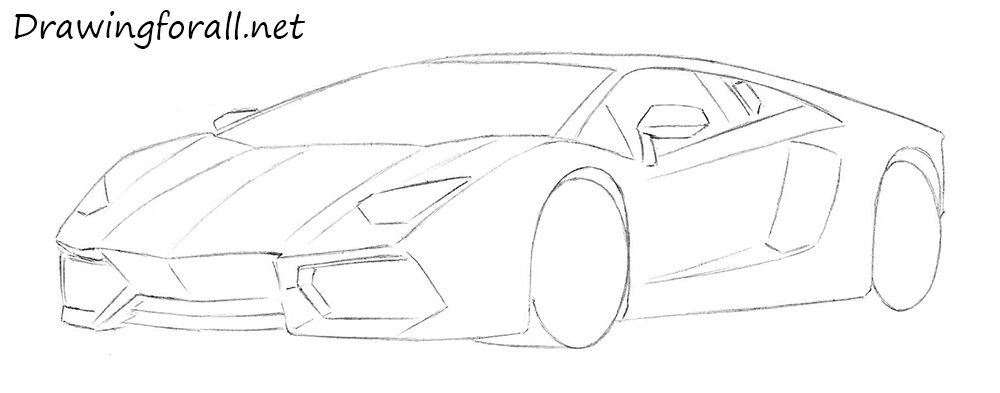 How To Draw A Lamborghini Drawingforall Net