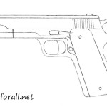 how to draw a gun step by step for beginners