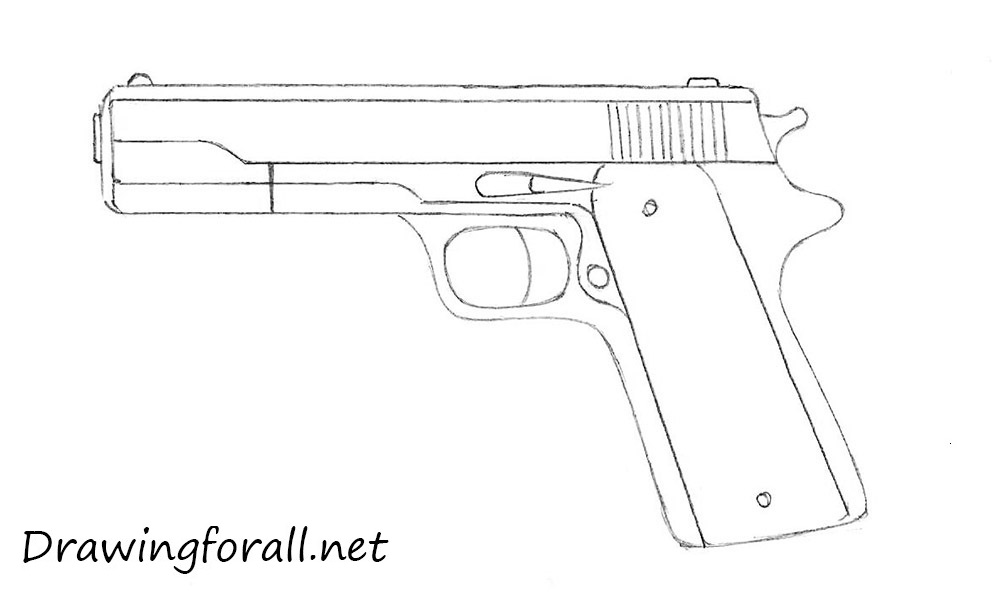 5 how to draw a gun for beginners