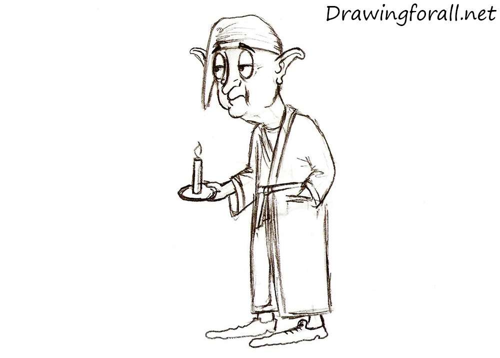 how to draw a halfling