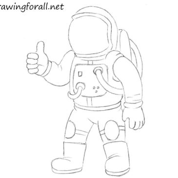 How to Draw an Astronaut for Kids