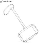 How to Draw Mjolnir