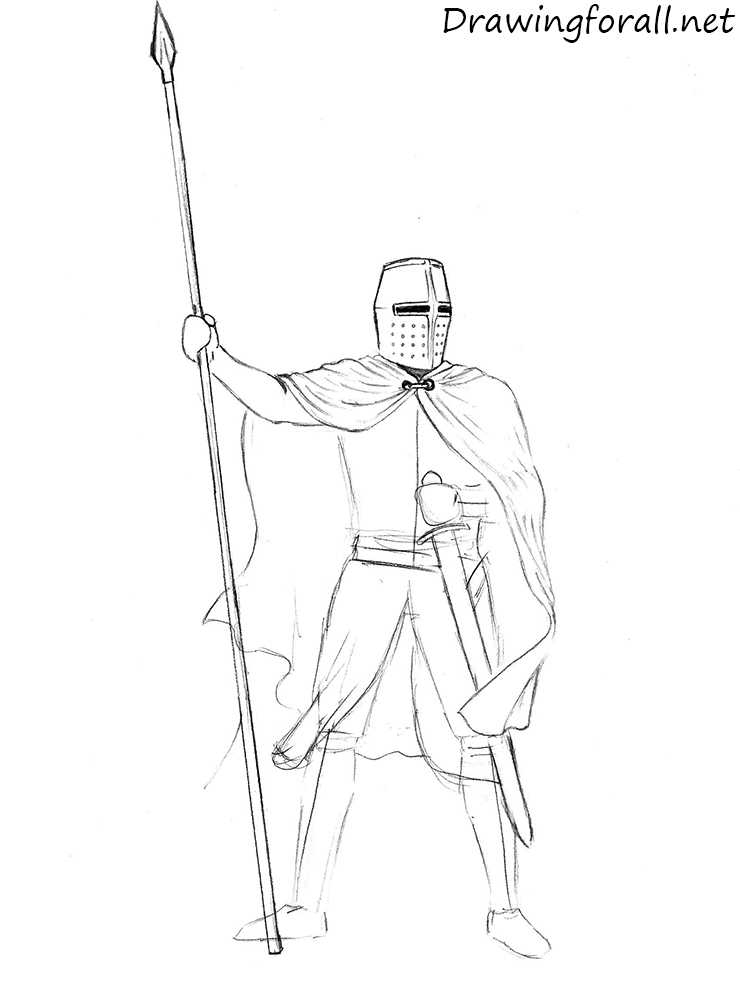 how to draw knights