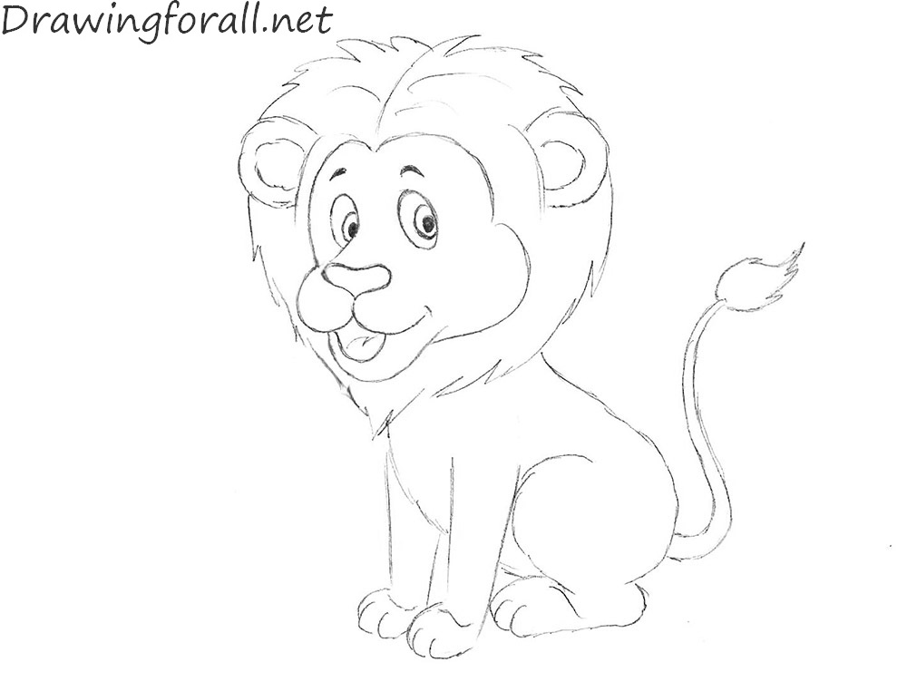 How to Draw a Lion for Kids | DrawingForAll.net