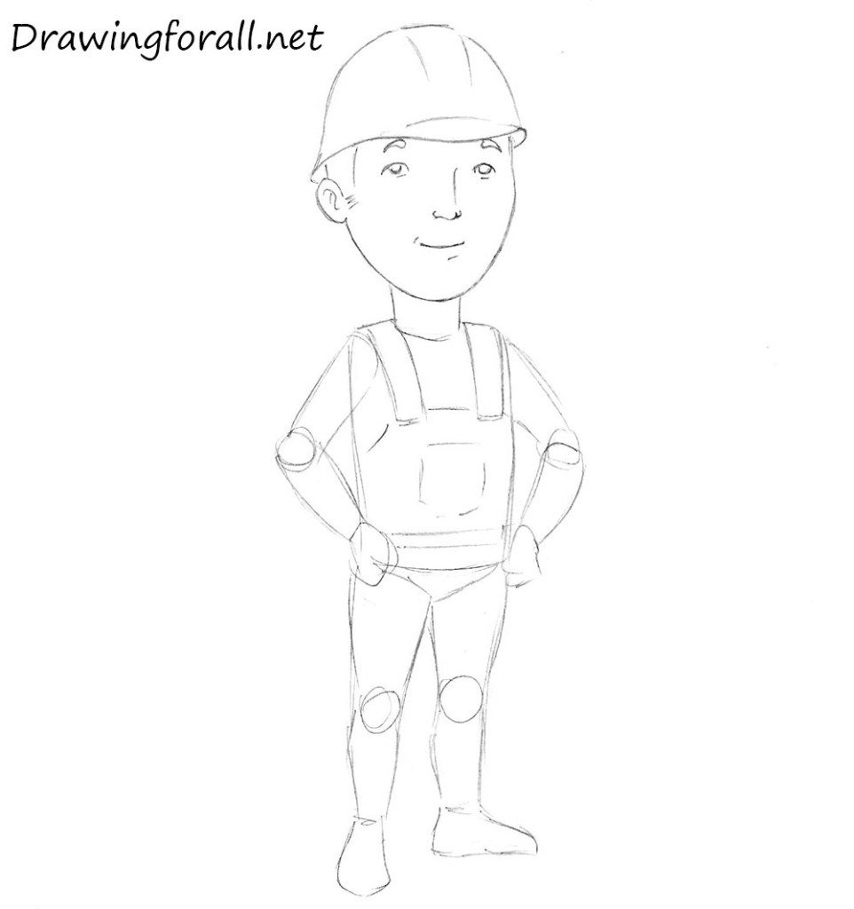 how to draw a builder