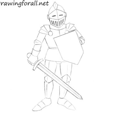 How to Draw a Cartoon Knight