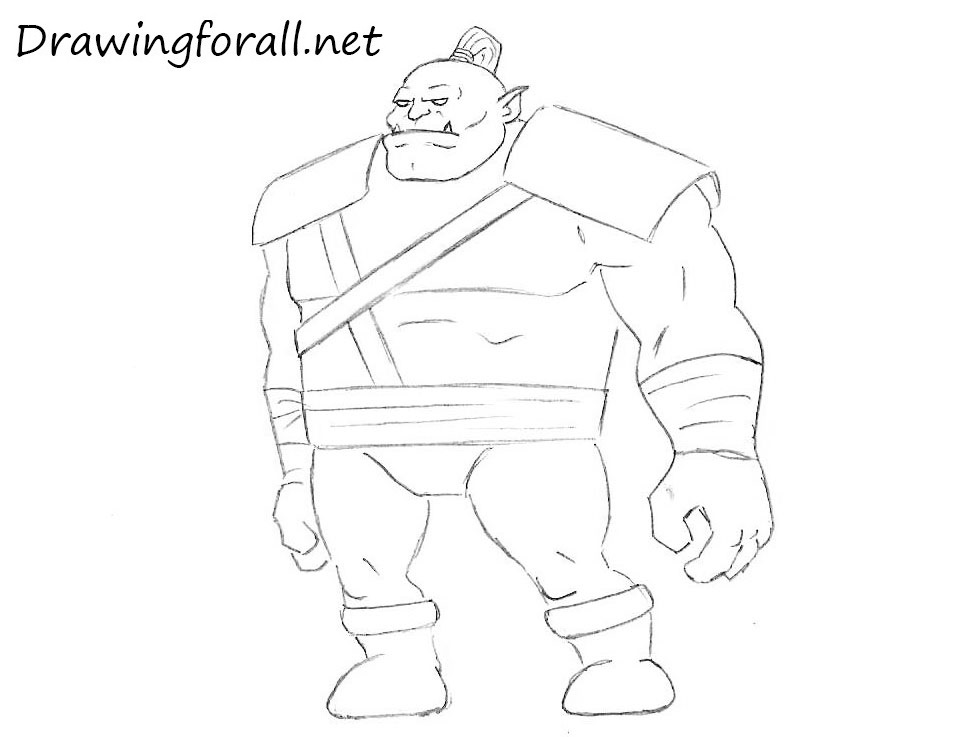 cartoon orc drawing