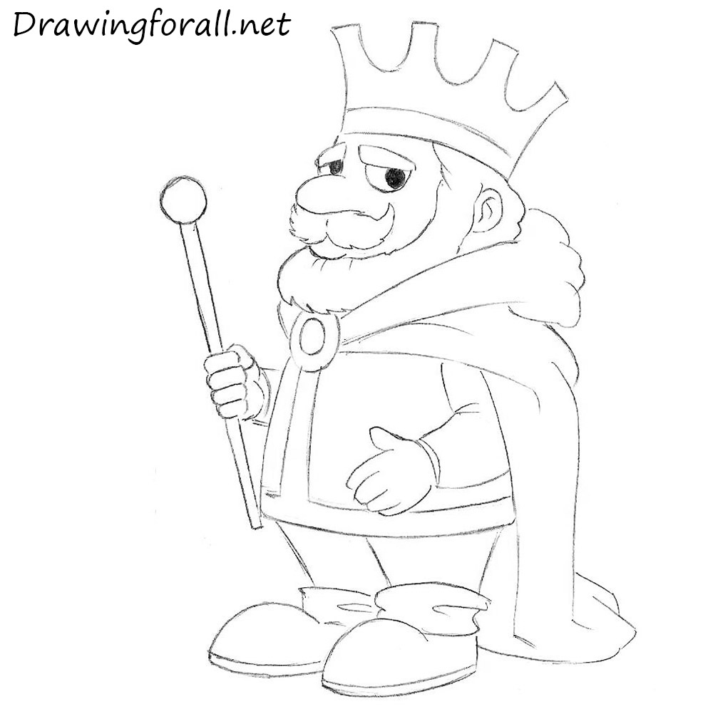 How To Draw A Cartoon King Drawingforall Net Drawing King