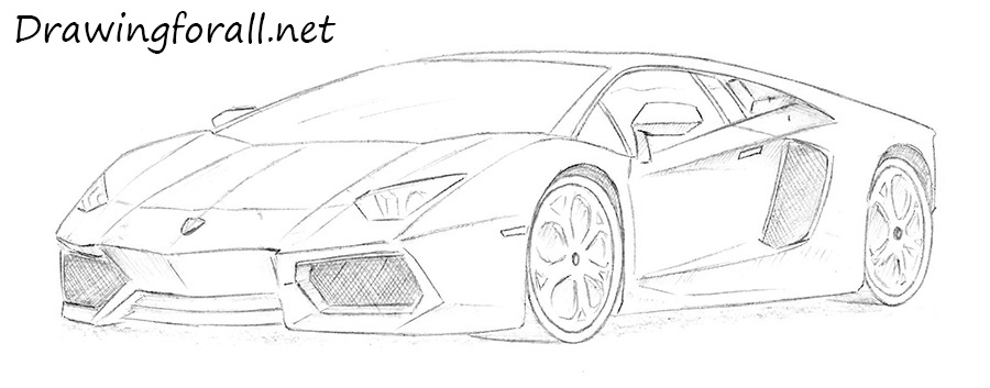Cool Drawing Sports Car Lamborghini Pictures to Pin on ...