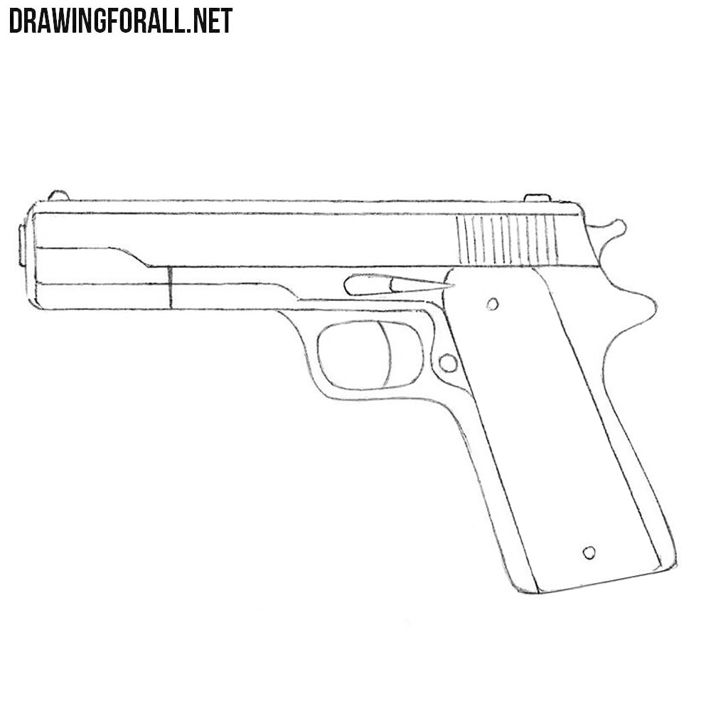 How To Draw A Gun For Beginners Drawingforall Net