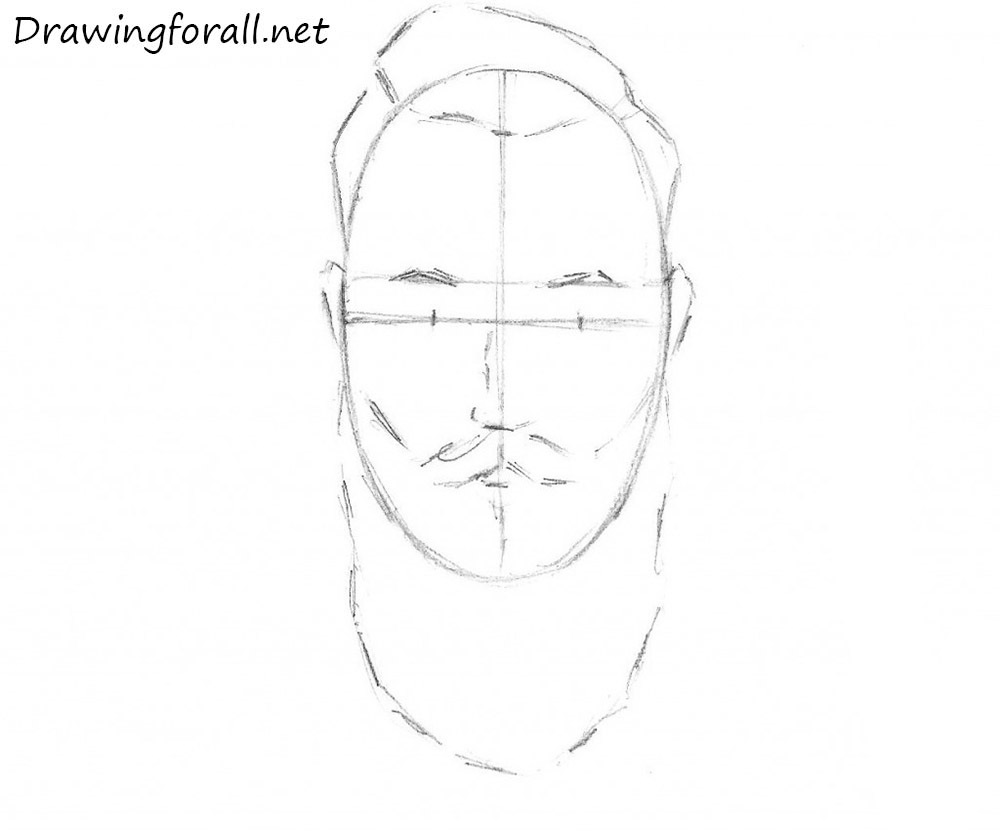 how to draw a beard for beginners
