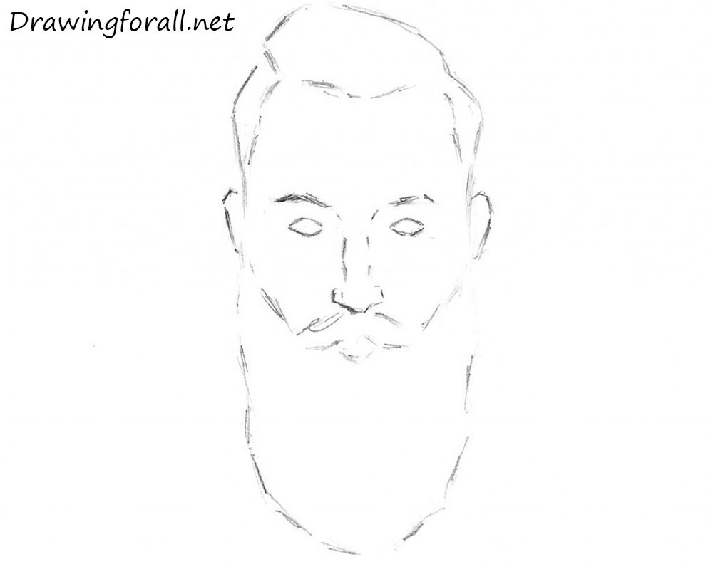 beard drawing