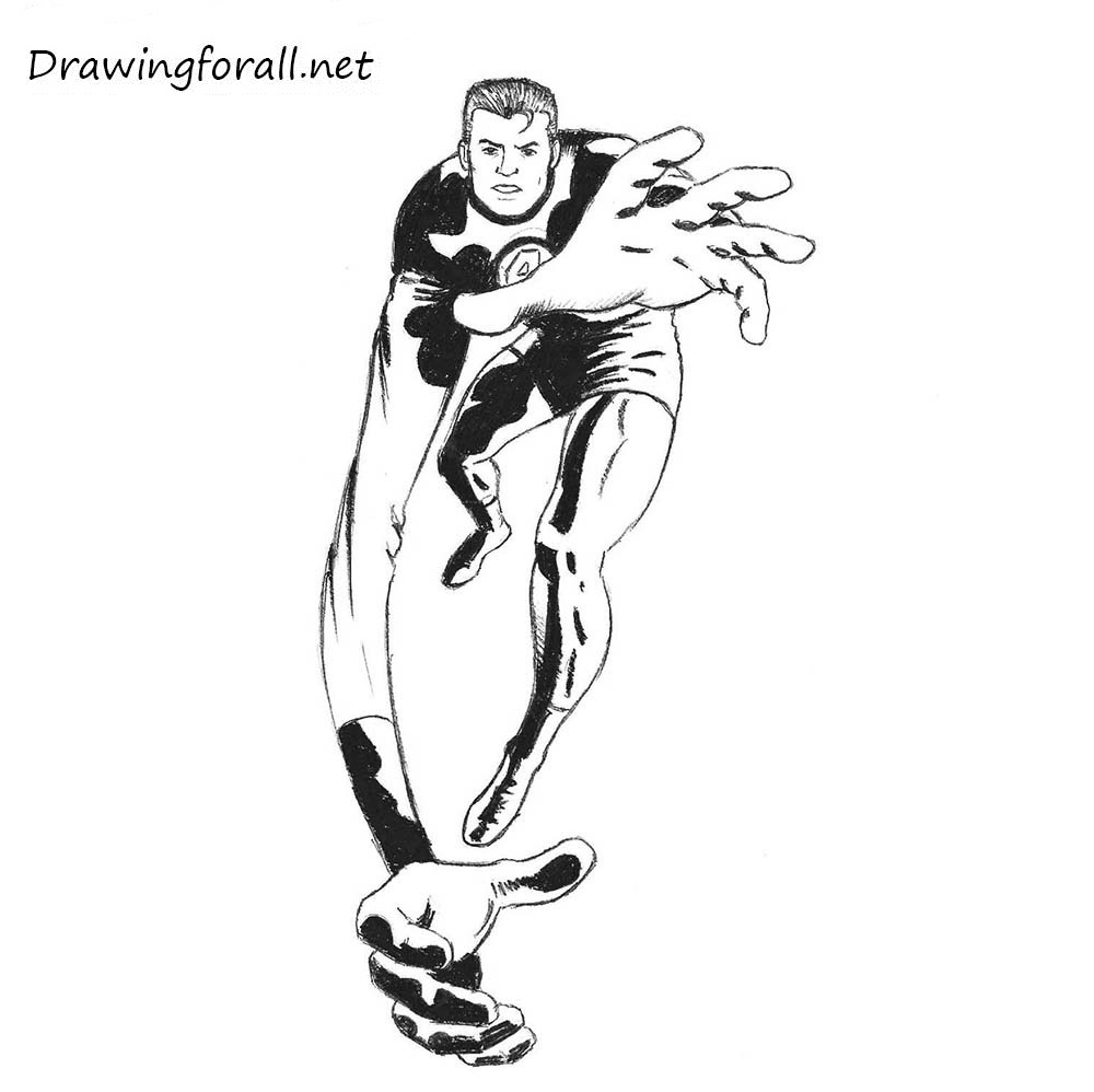How to draw mr. fantastic from the fantastic four