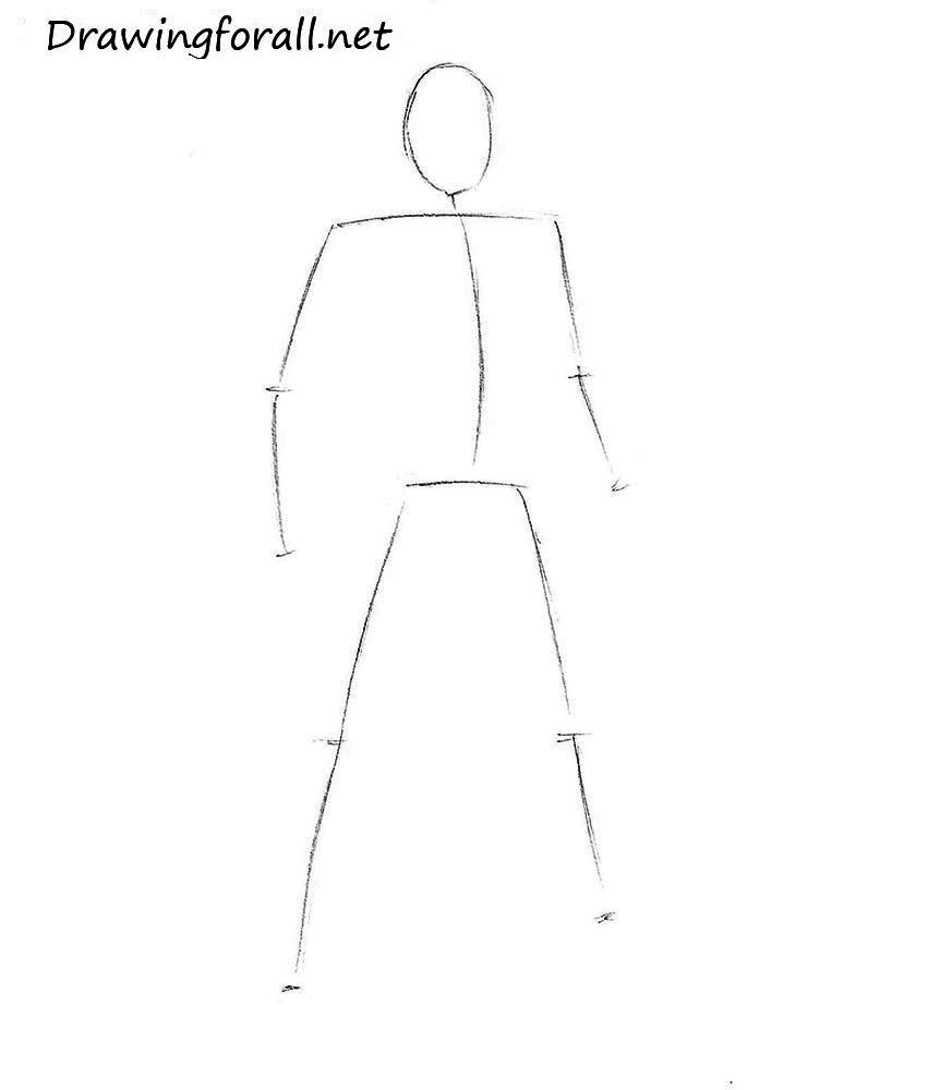 how to draw Kazuya from Tekken
