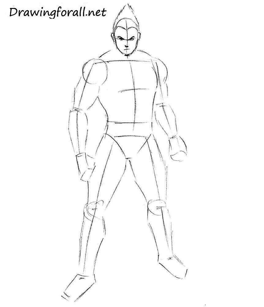 how to draw kazuya tekken