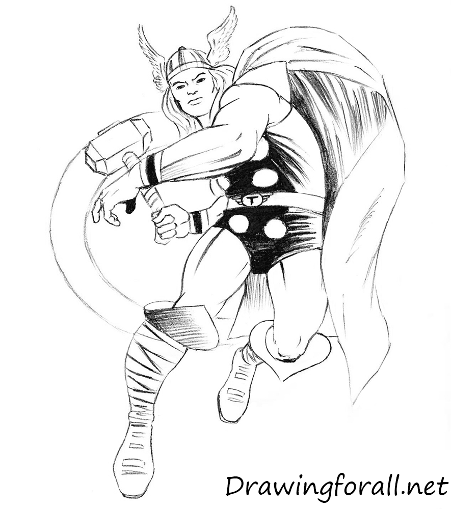 how to draw classic thor
