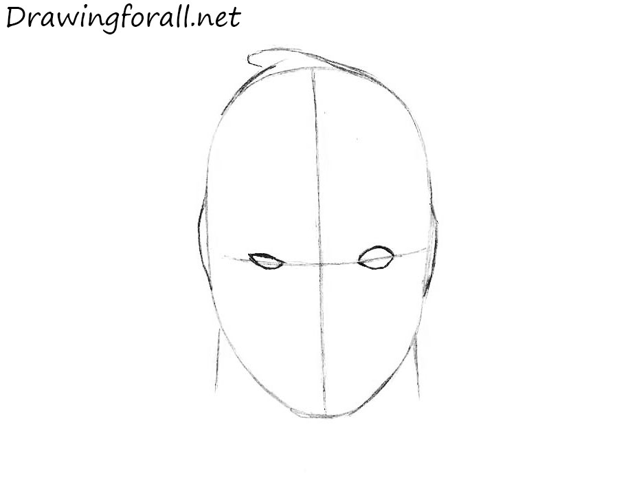 how to draw deadpool head step by step