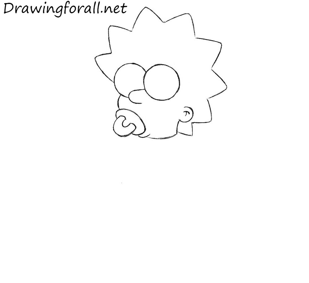 draw Maggie Simpson