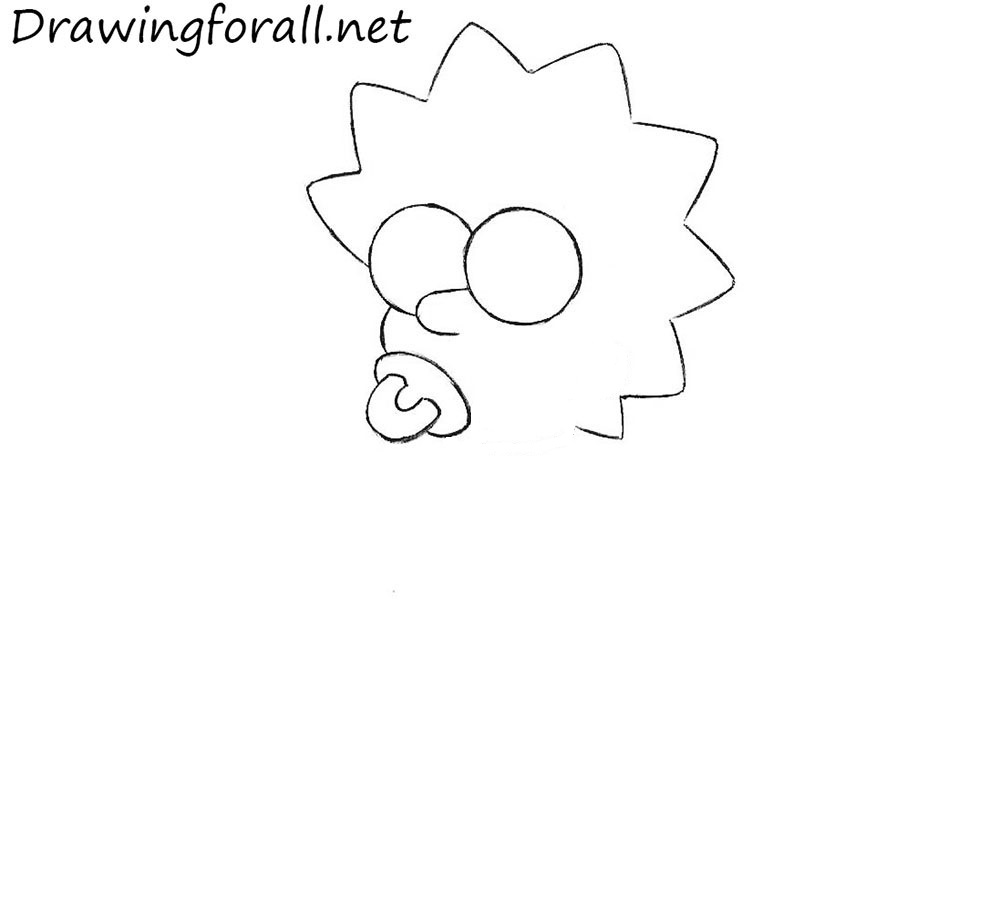 3 draw Maggie Simpson