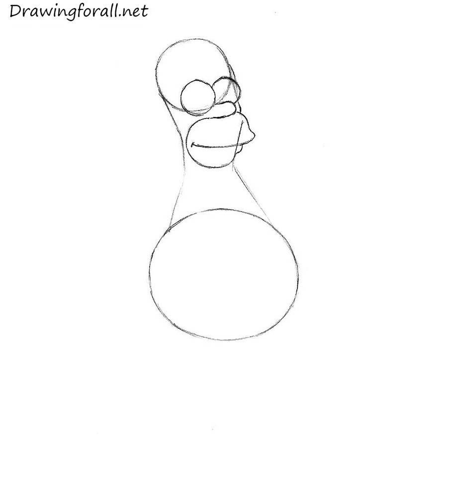 draw homer simpson