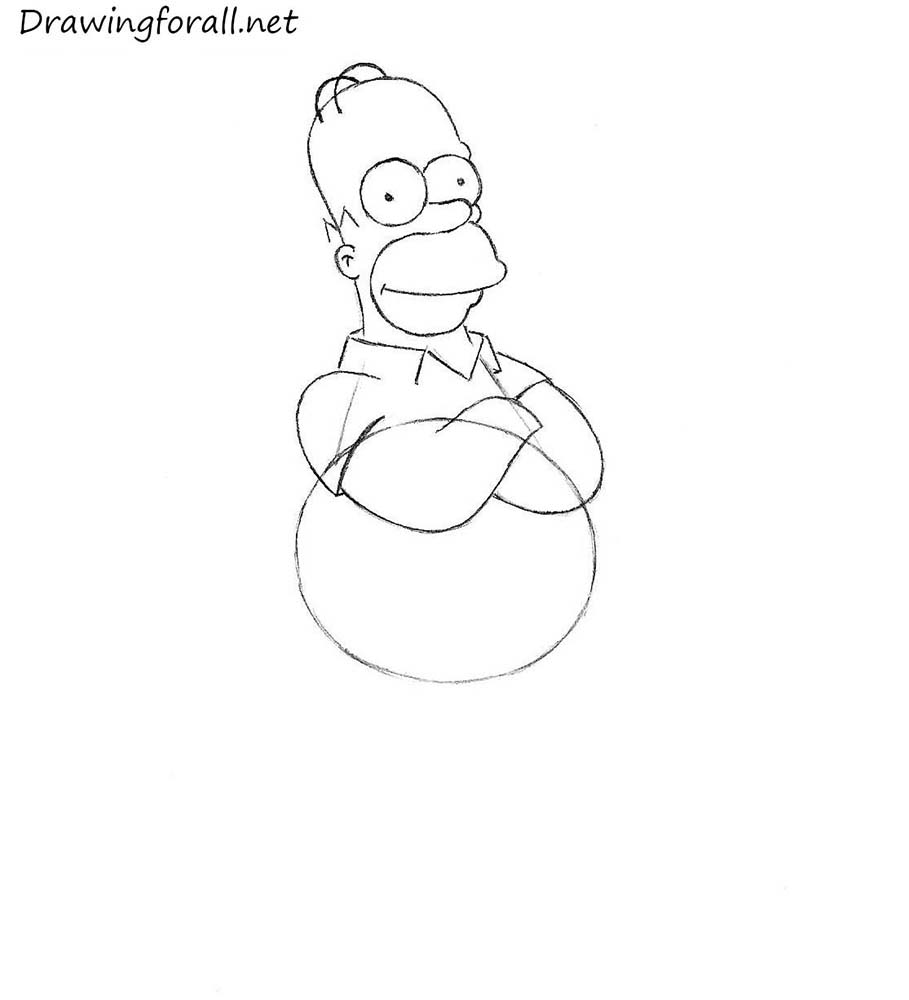how to draw homer
