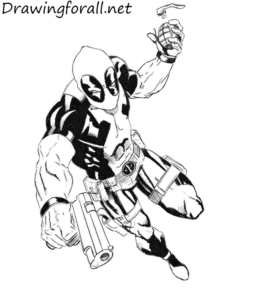 How to Draw Deadpool | Drawingforall.netDeadpool Sketch