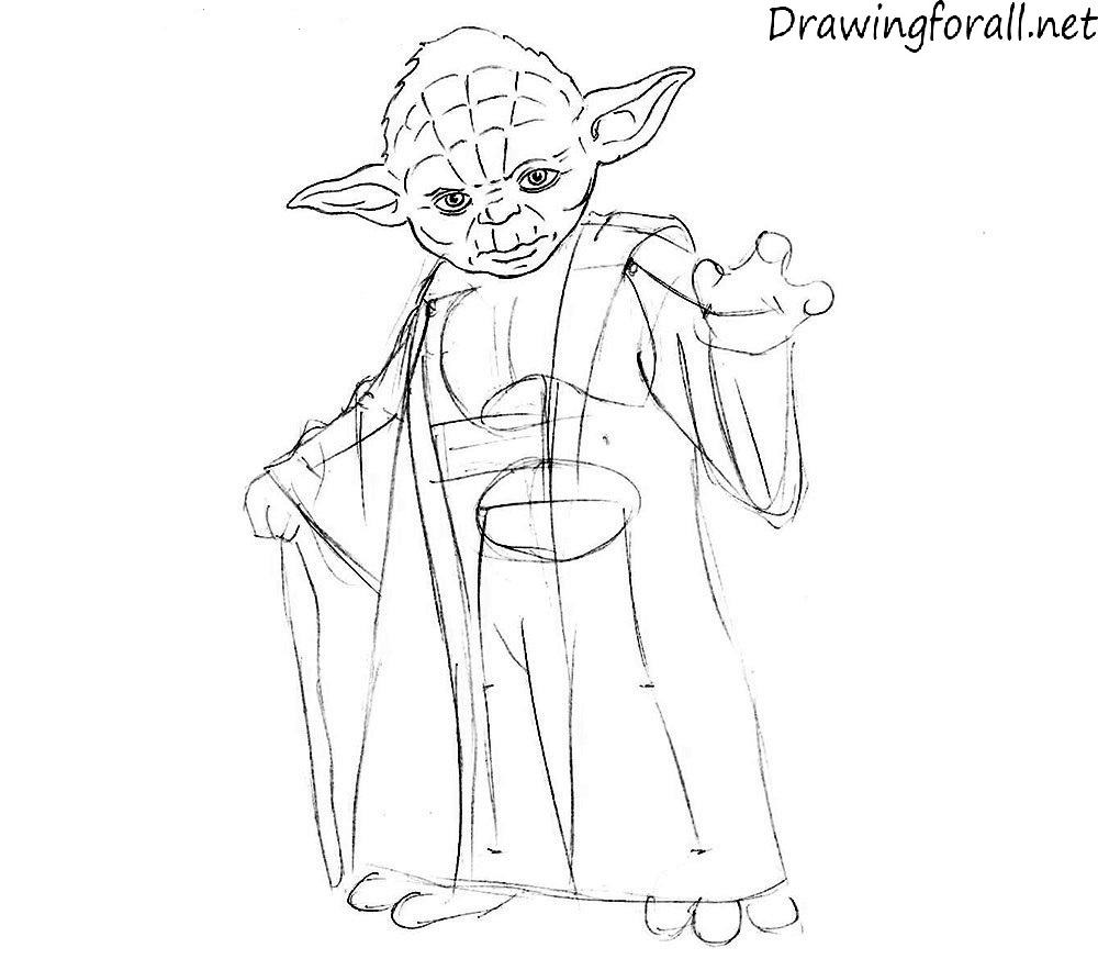 Line Drawing Yoda : Line art yoda by kodapops on deviantart