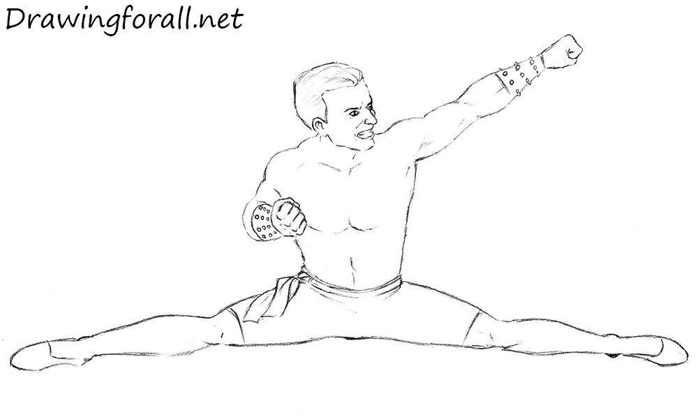 How to Draw Johnny Cage with a pencil