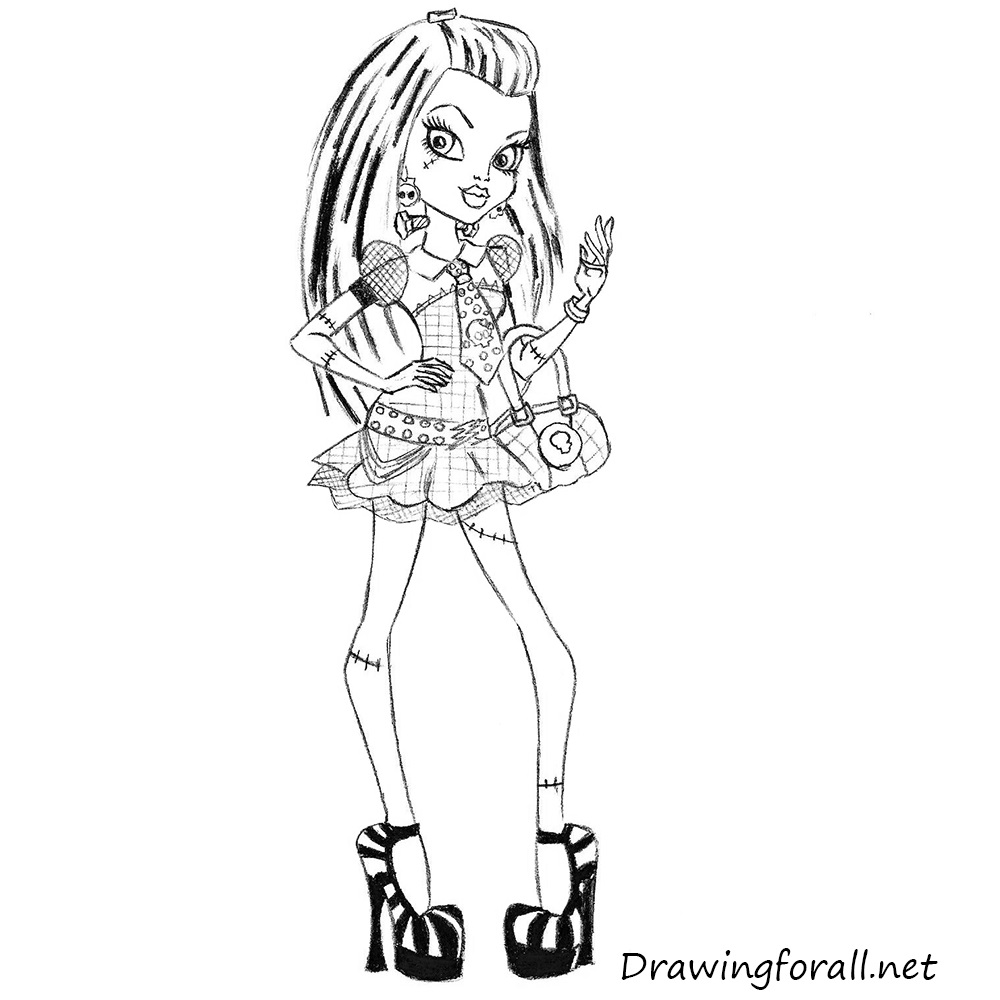 how to draw frankie from monster high
