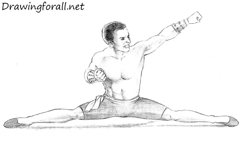 Johnny Cage drawing