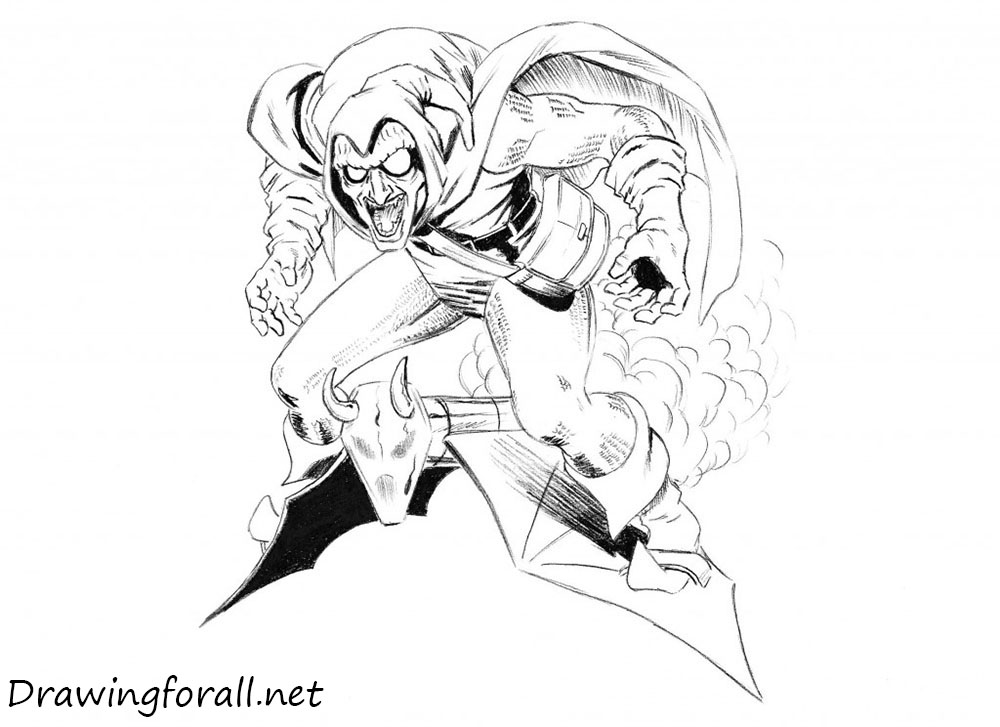 how to draw hobgoblin from marvel