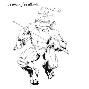 How to Draw Leonardo from TMNT
