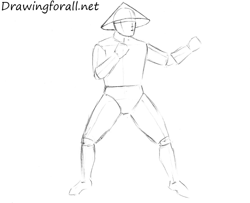 how to draw raiden from mk