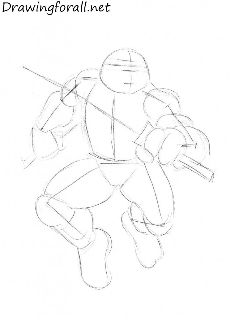 how to draw teenage mutant ninja turtles step by step
