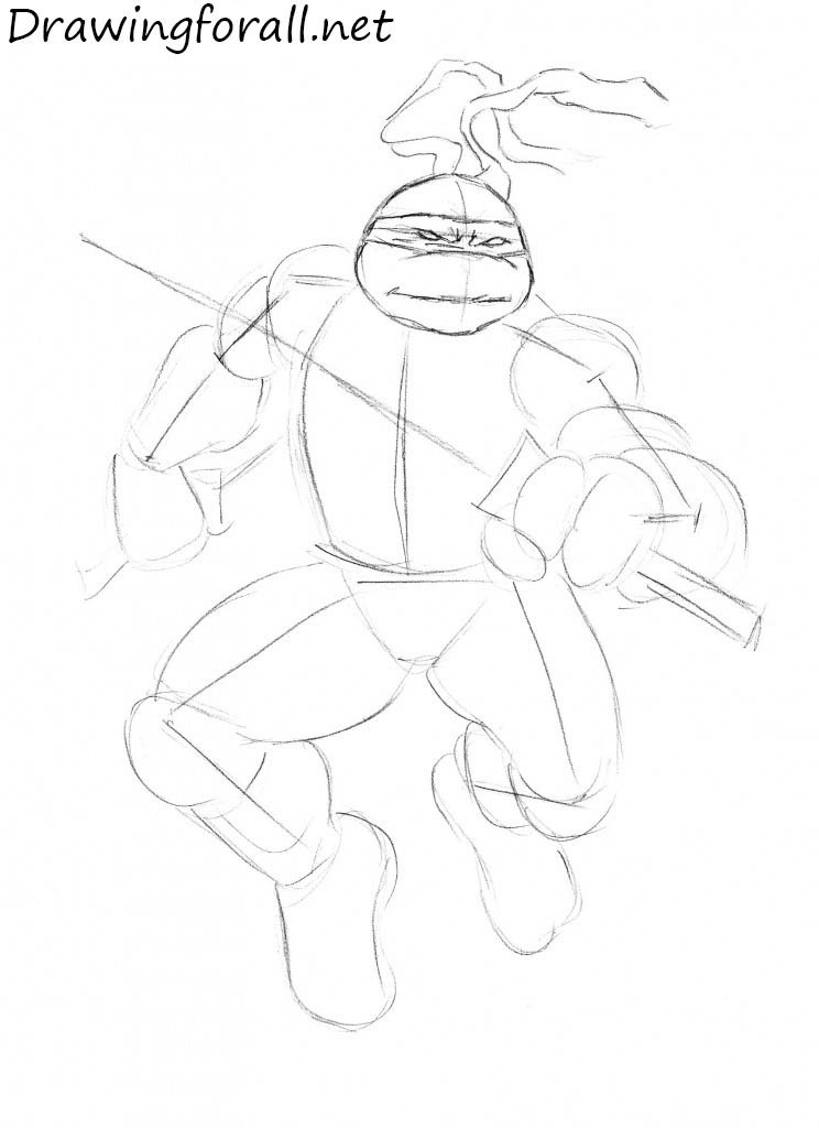 how to draw leonardo from teenage mutant ninja turtles