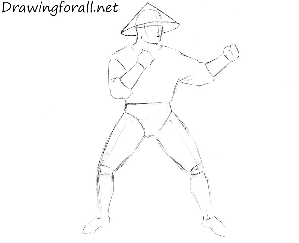 how to draw raiden from Mortal Kombat x