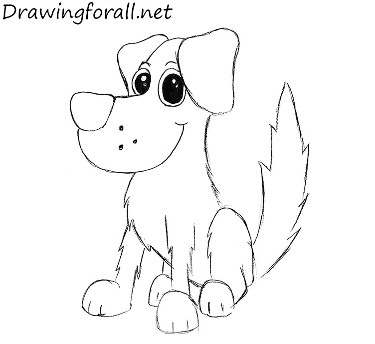 How To Draw A Dog For Kids Drawingforall Net
